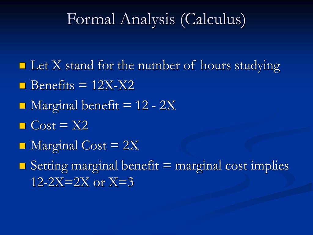 Formal Analysis (Calculus)