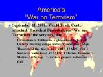 america s war on terrorism