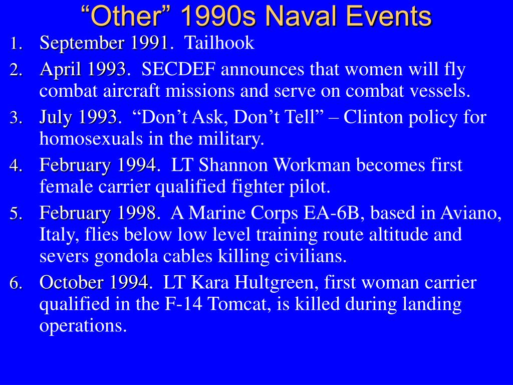 """Other"" 1990s Naval Events"