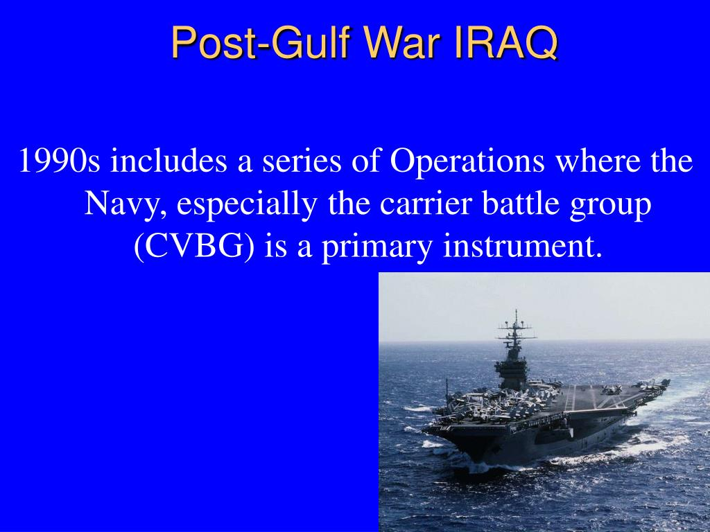 Post-Gulf War IRAQ