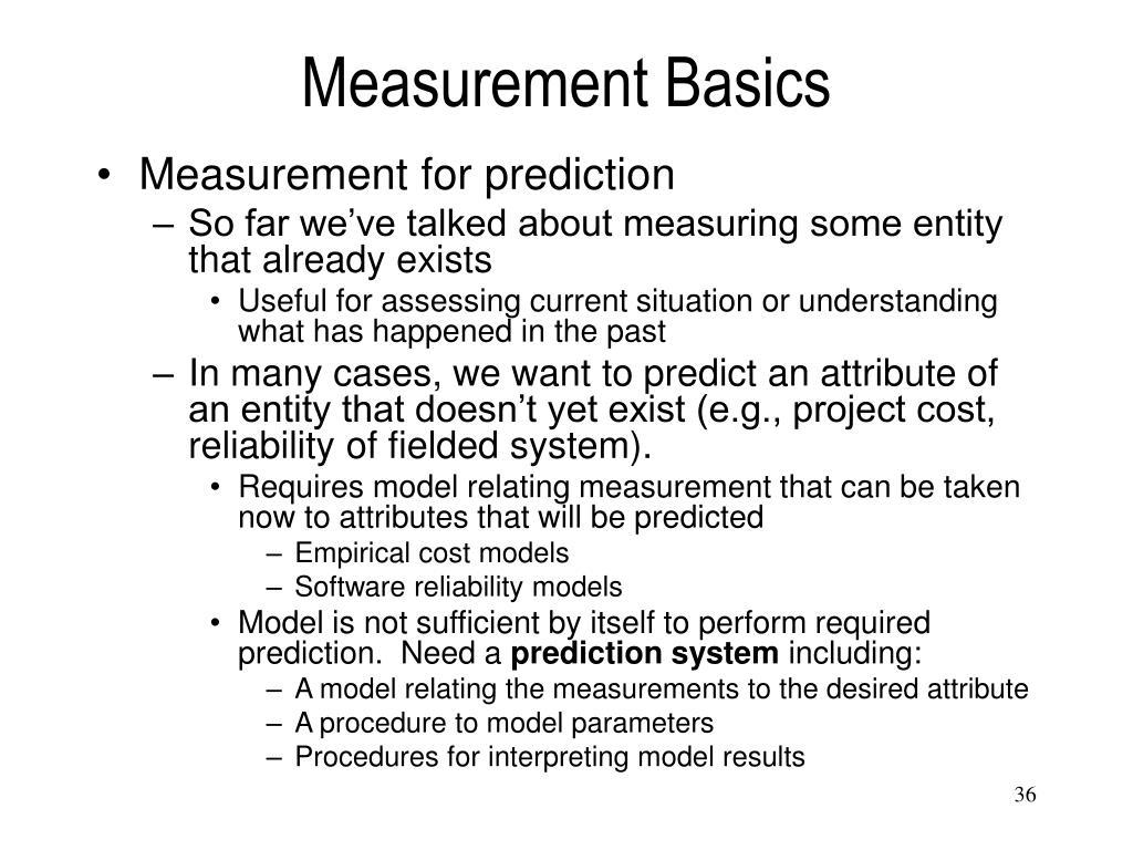 Measurement Basics
