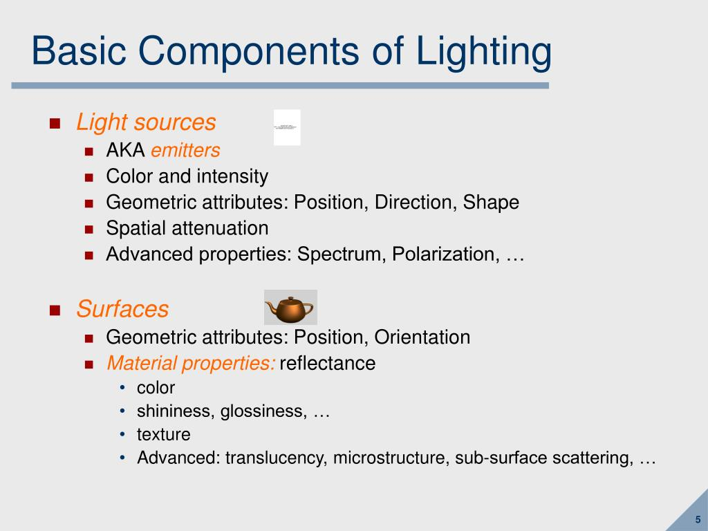 Basic Components of Lighting