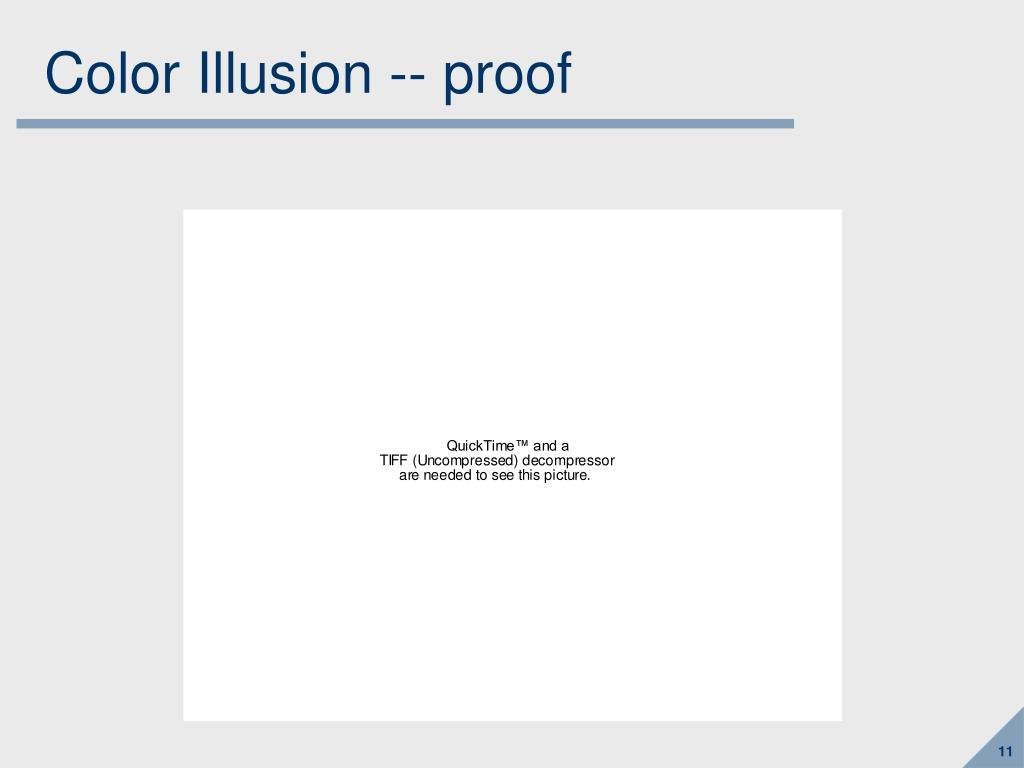 Color Illusion -- proof