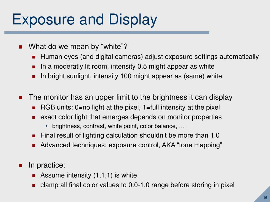 Exposure and Display