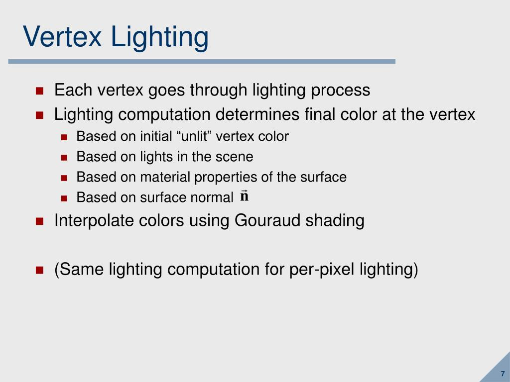 Vertex Lighting