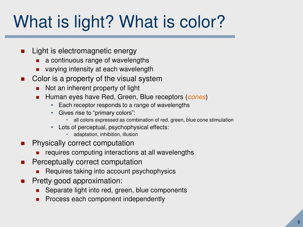 What is light? What is color?
