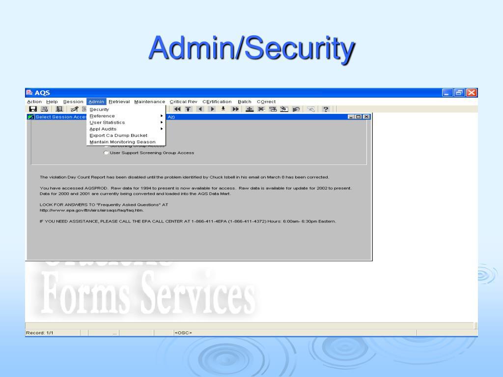 Admin/Security