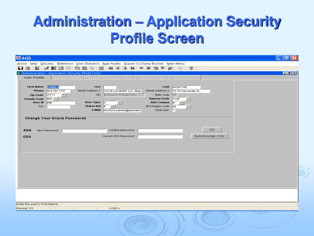 Administration – Application Security