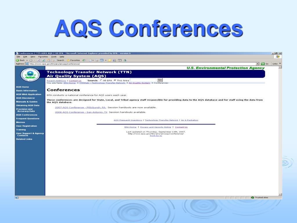 AQS Conferences