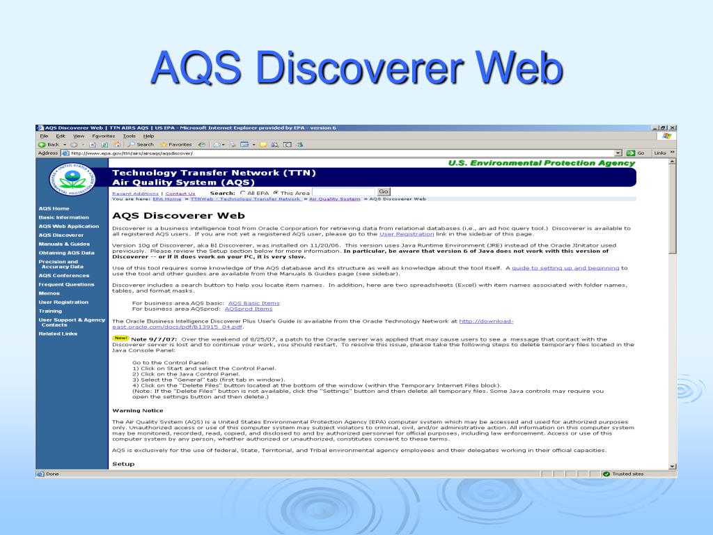 AQS Discoverer Web