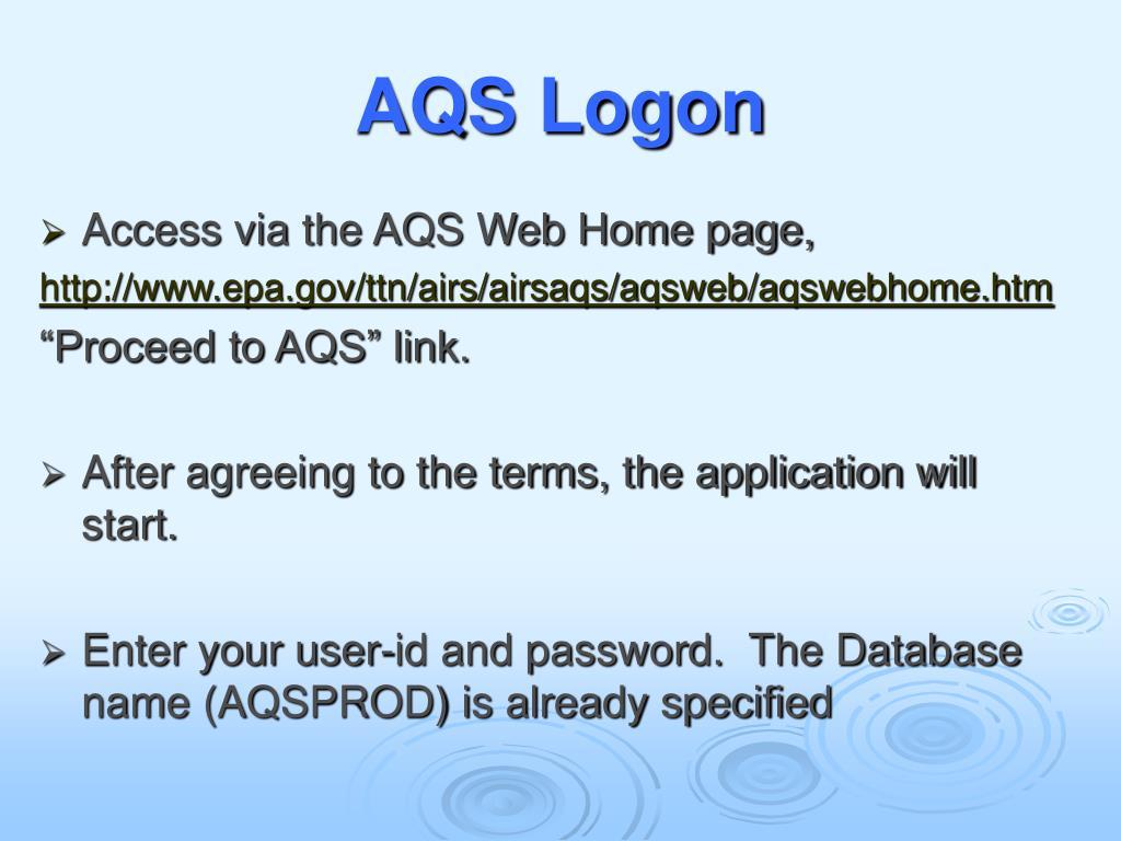 AQS Logon
