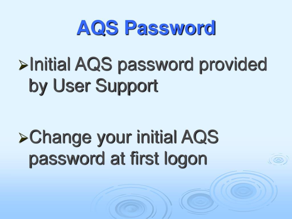 AQS Password