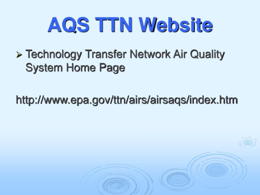 AQS TTN Website