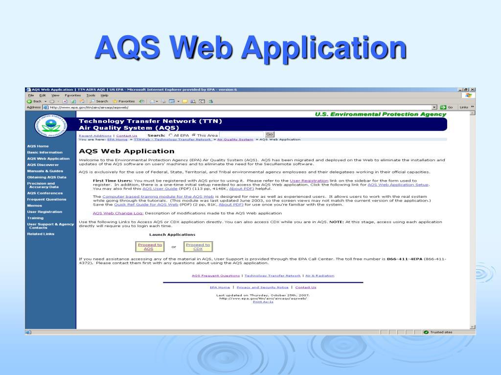 AQS Web Application