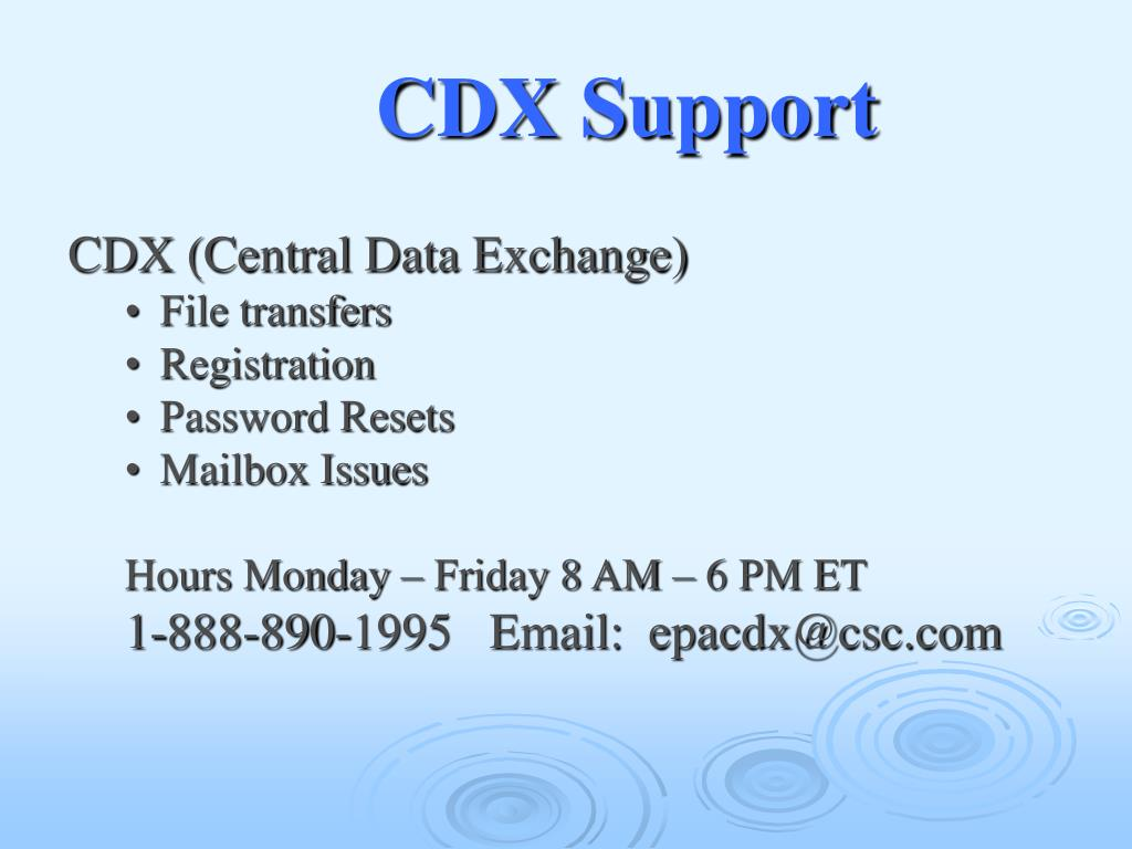 CDX Support