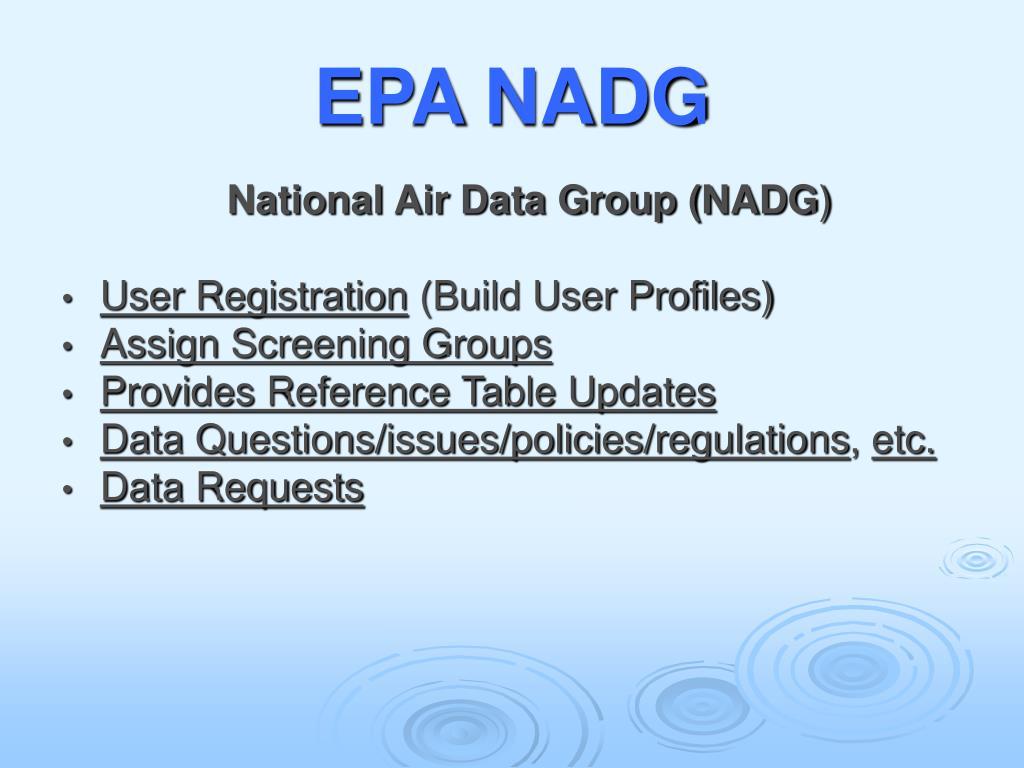 EPA NADG