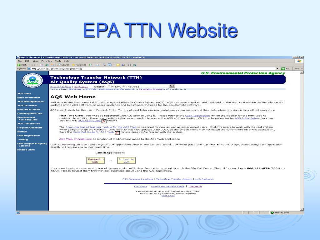 EPA TTN Website