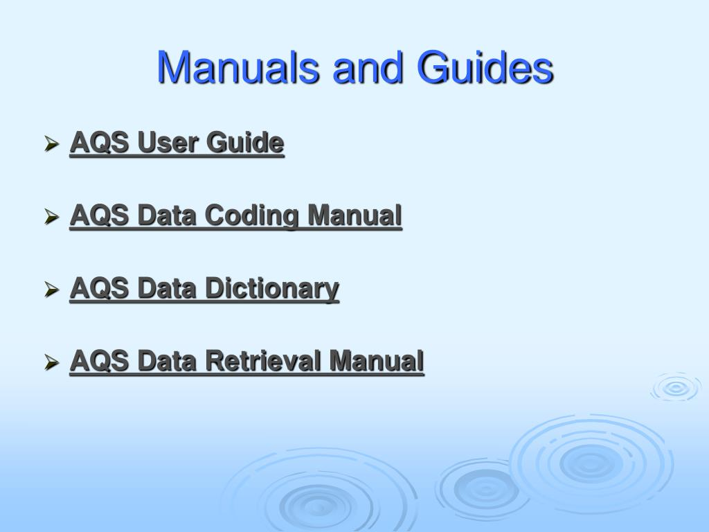 Manuals and Guides