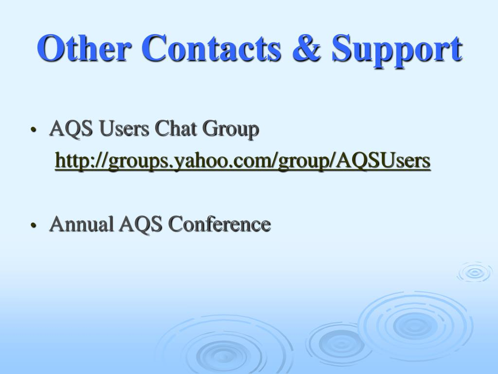 Other Contacts & Support