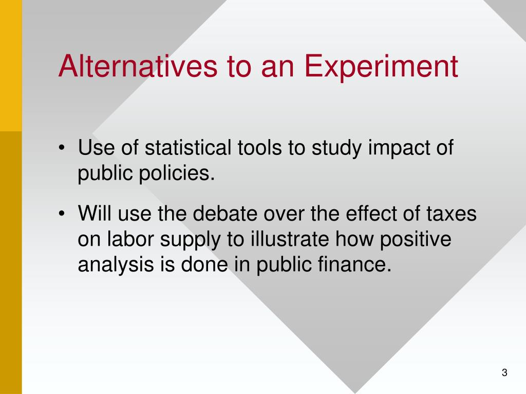 Alternatives to an Experiment