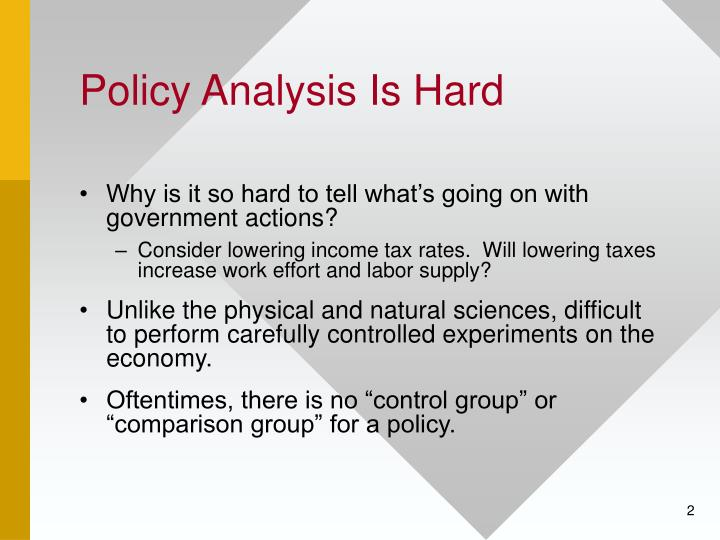 Policy analysis is hard