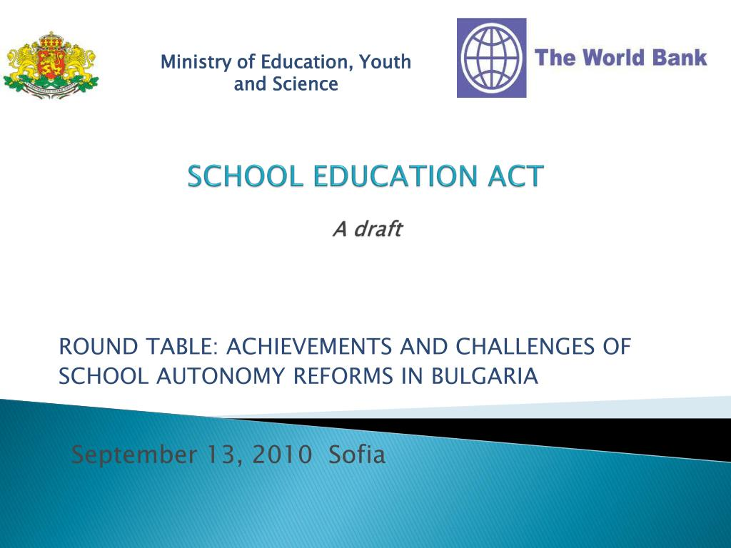 school education act a draft l.