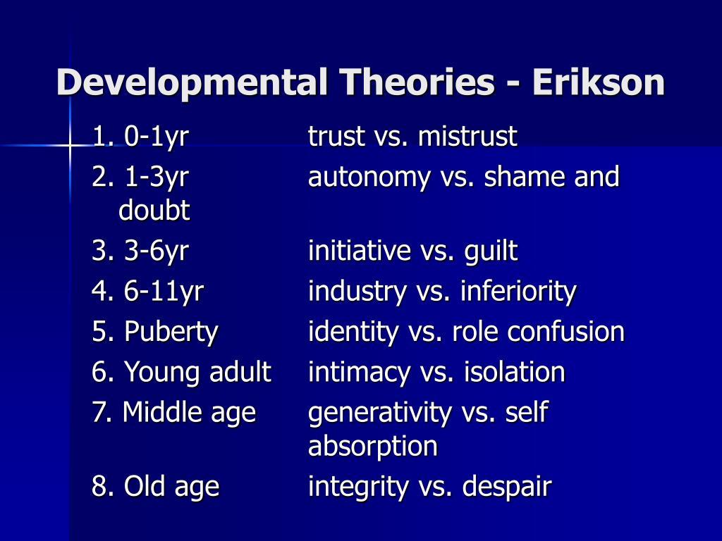 Developmental Theories - Erikson