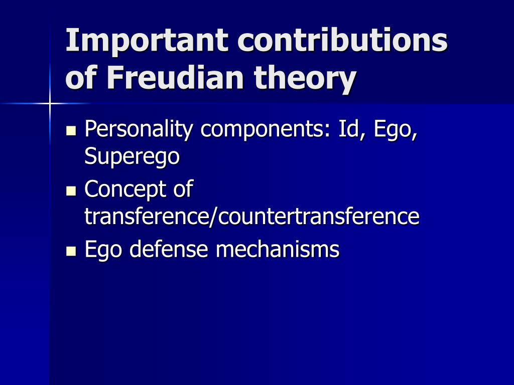 Important contributions of Freudian theory