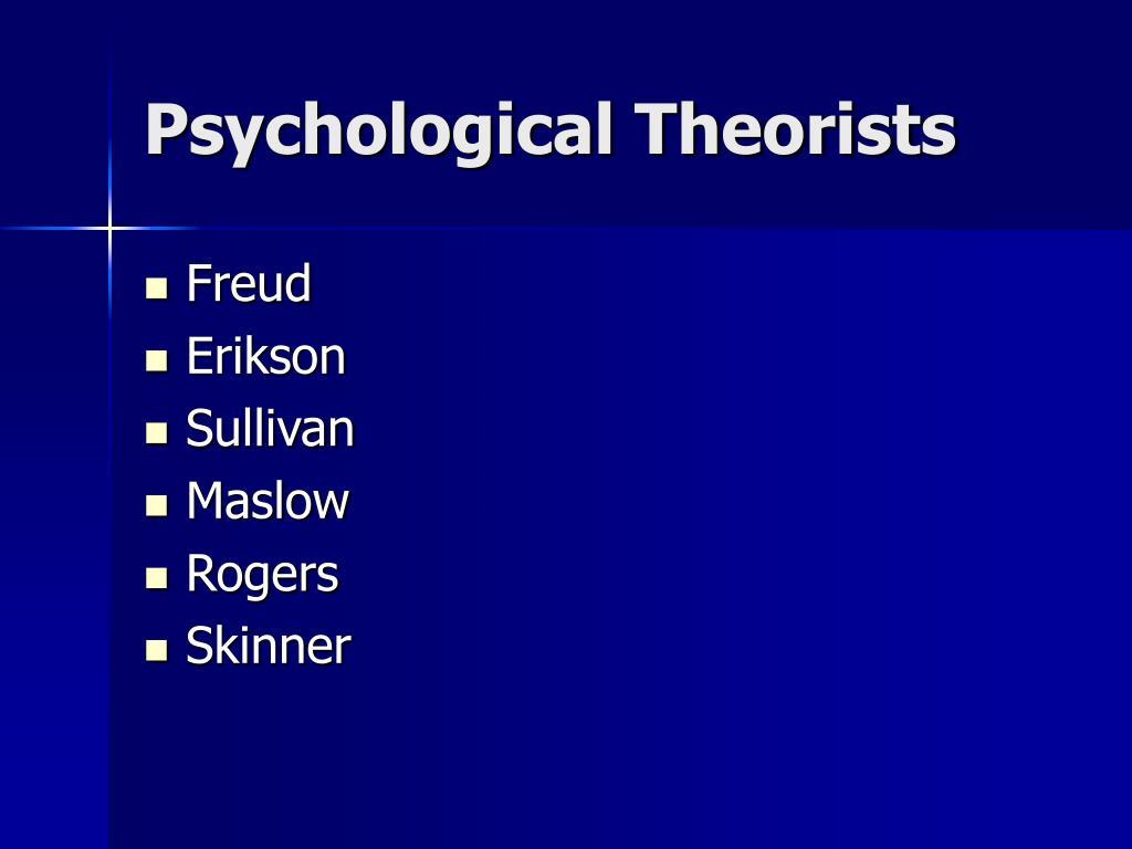 Psychological Theorists