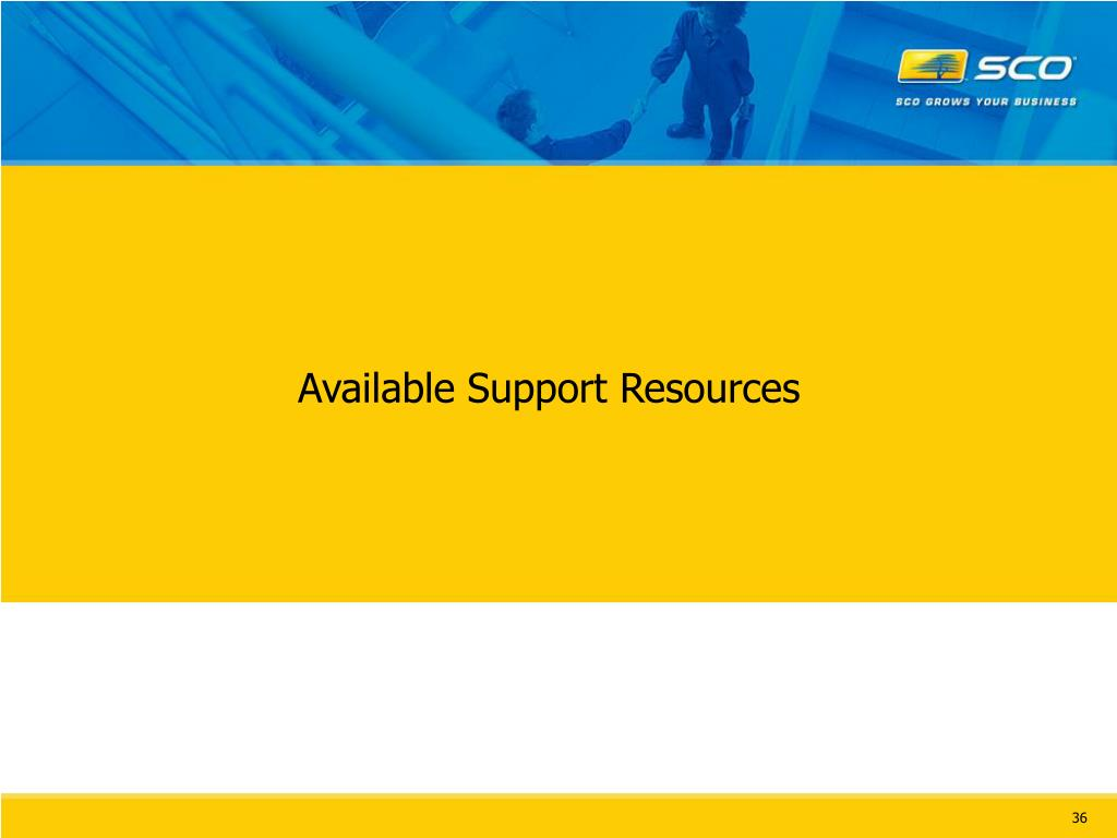 Available Support Resources