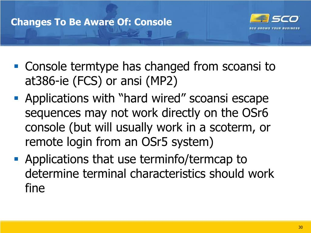 Changes To Be Aware Of: Console