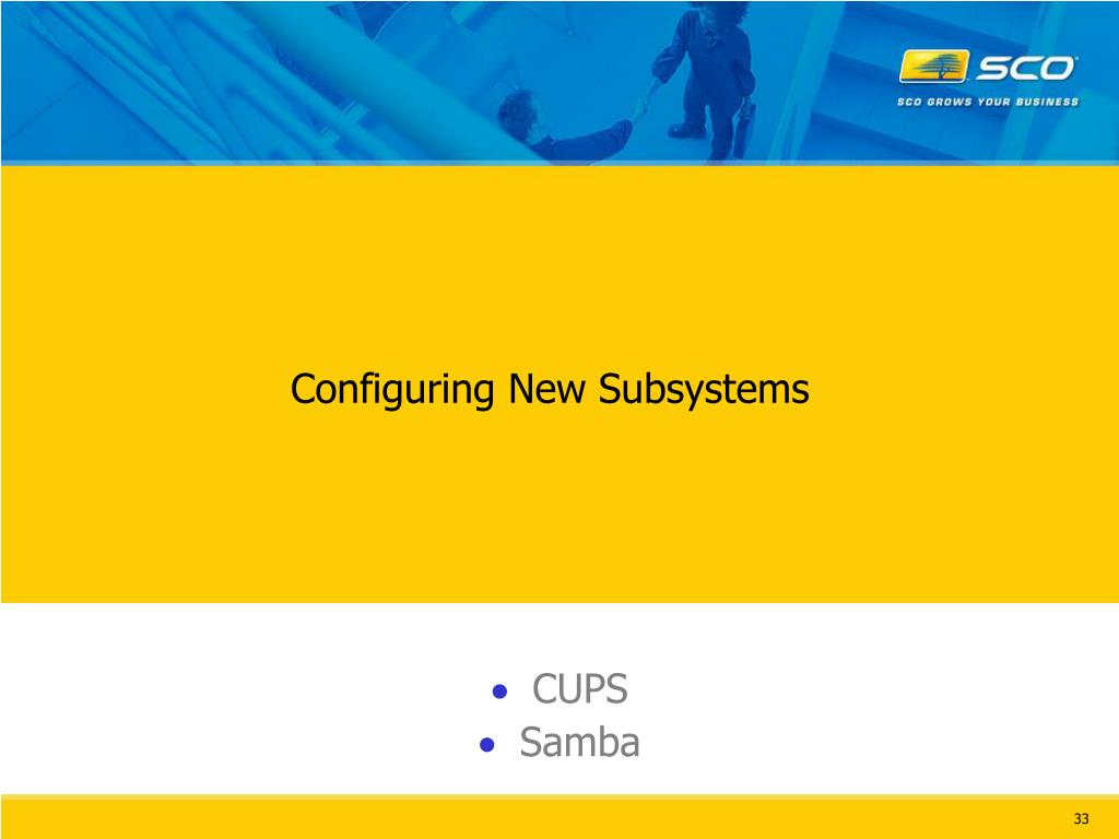 Configuring New Subsystems