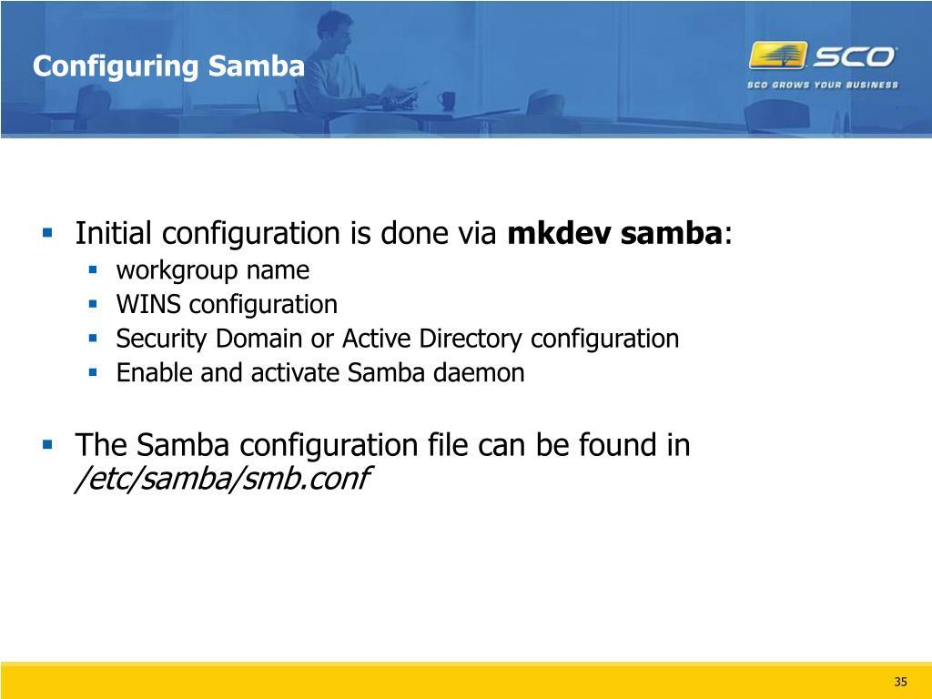 Configuring Samba