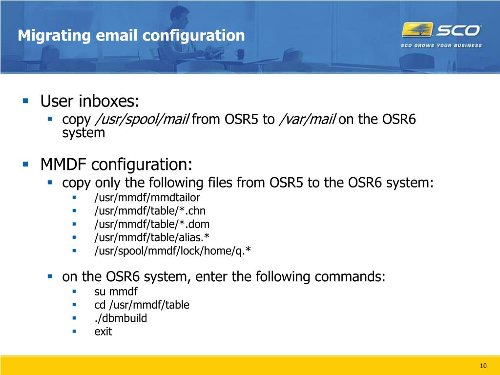 Migrating email configuration