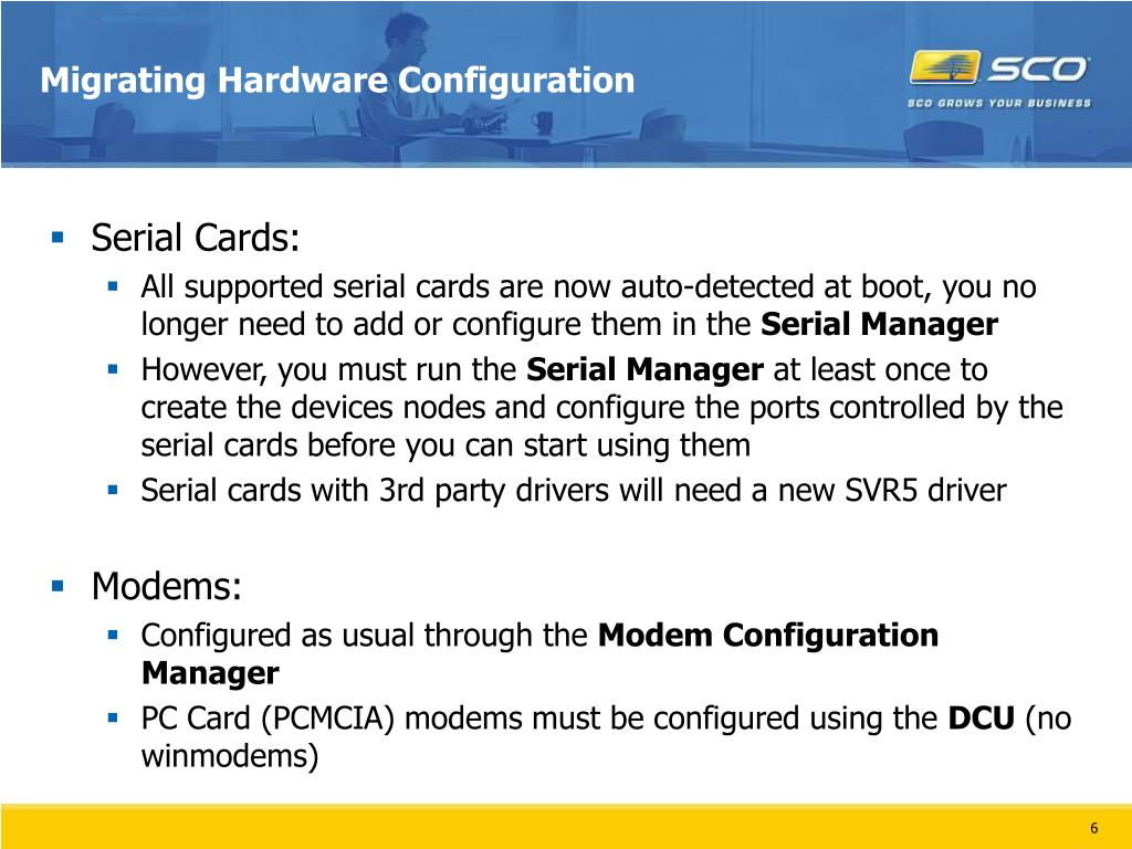 Migrating Hardware Configuration