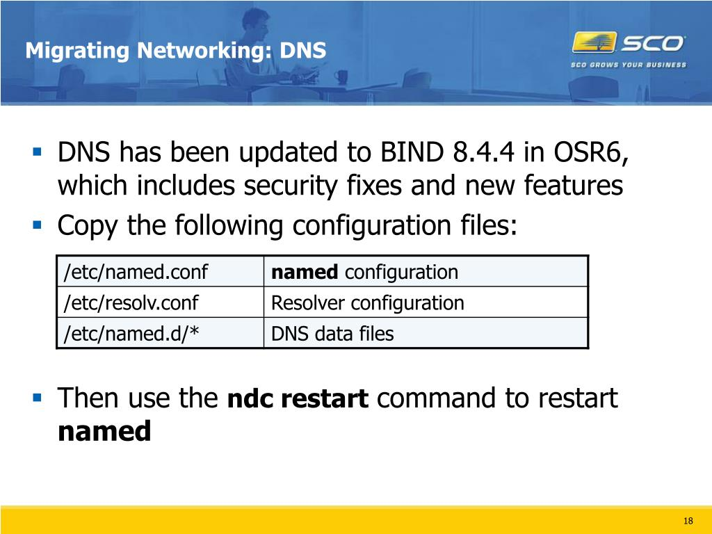 Migrating Networking: DNS