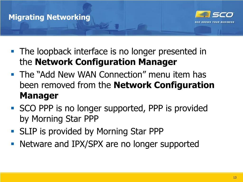 Migrating Networking