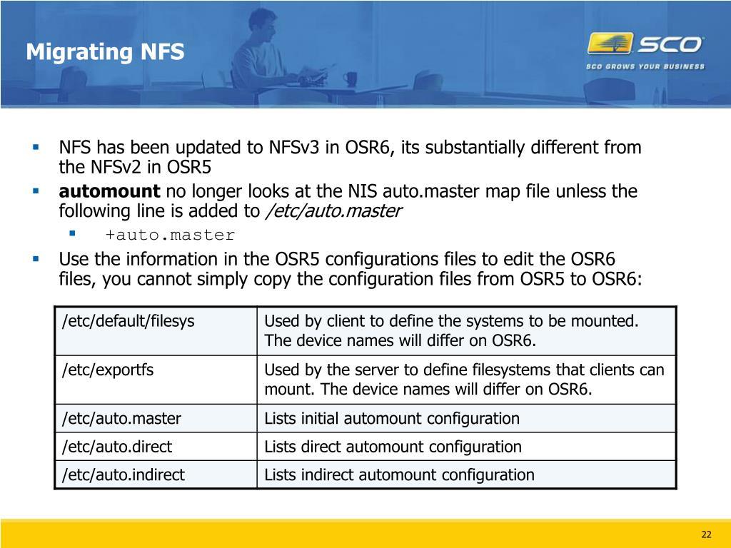 Migrating NFS