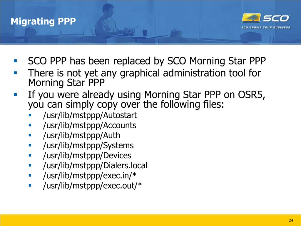 Migrating PPP