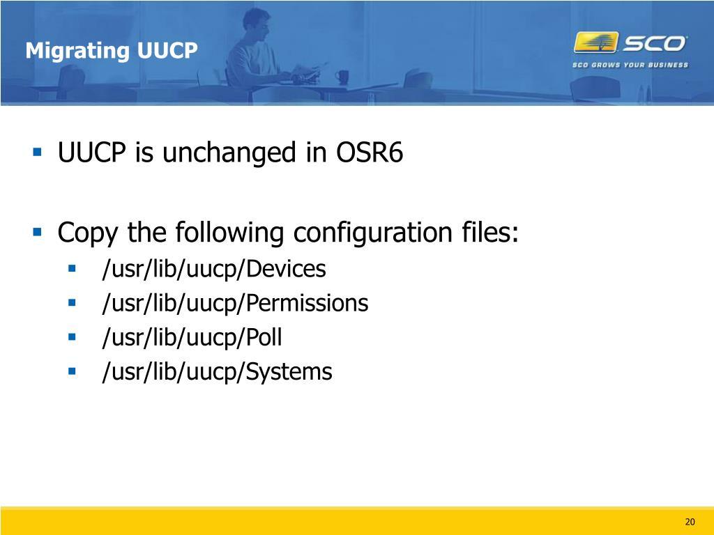 Migrating UUCP