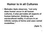 humor is in all cultures