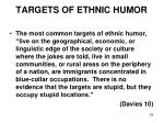 targets of ethnic humor