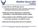 weather scout uav conops