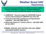 weather scout uav requirements