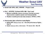 weather scout uav test planning