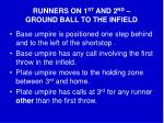runners on 1 st and 2 nd ground ball to the infield