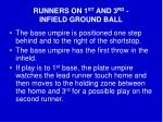 runners on 1 st and 3 rd infield ground ball