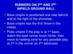 runners on 2 nd and 3 rd infield ground ball