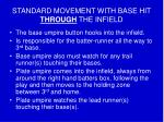standard movement with base hit through the infield