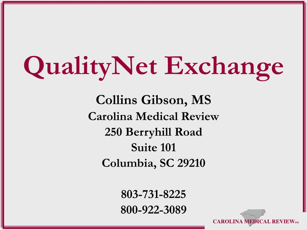 qualitynet exchange l.